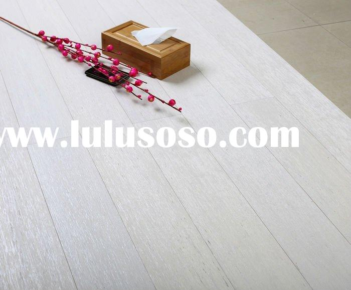 Brushed white strand woven bamboo flooring