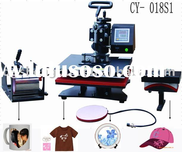 CE Cmobo 4in1 5in1 6in1 heat transfer printing machine , includ mug ,cap ,plate and t-shirt trasnfer