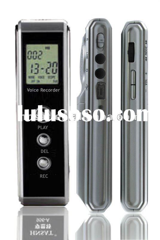 Cheap digital voice recorder with WAV format