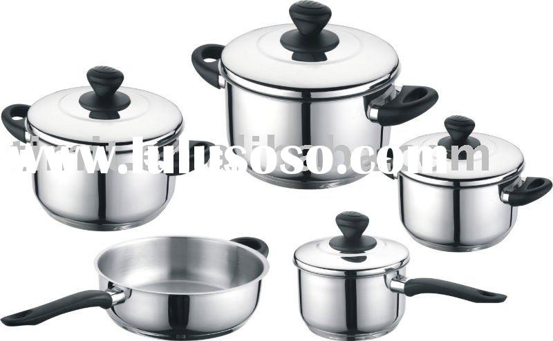 Cheap nonstick stainless steel cookware set /cooking pots (S-A1919-T9)
