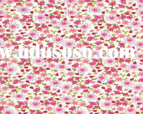 China printed curtain fabric supplier 100%cotton floral print fabric