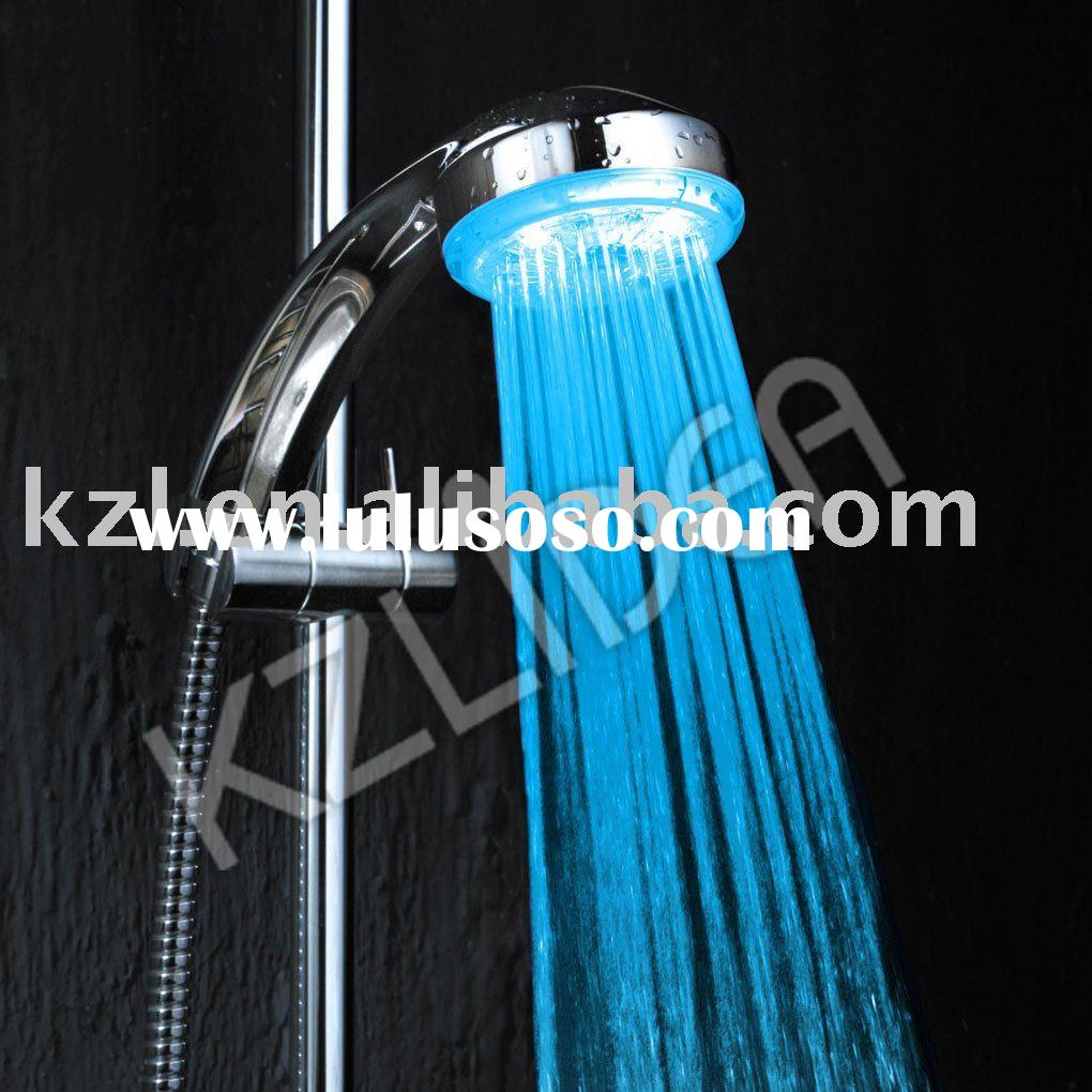 Chrome plated rainfall led shower head (CE&ROHS)