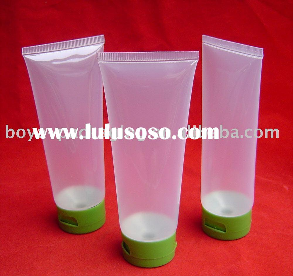 Clear PE Flexible Cosmetic Plastic Packaging Tubes