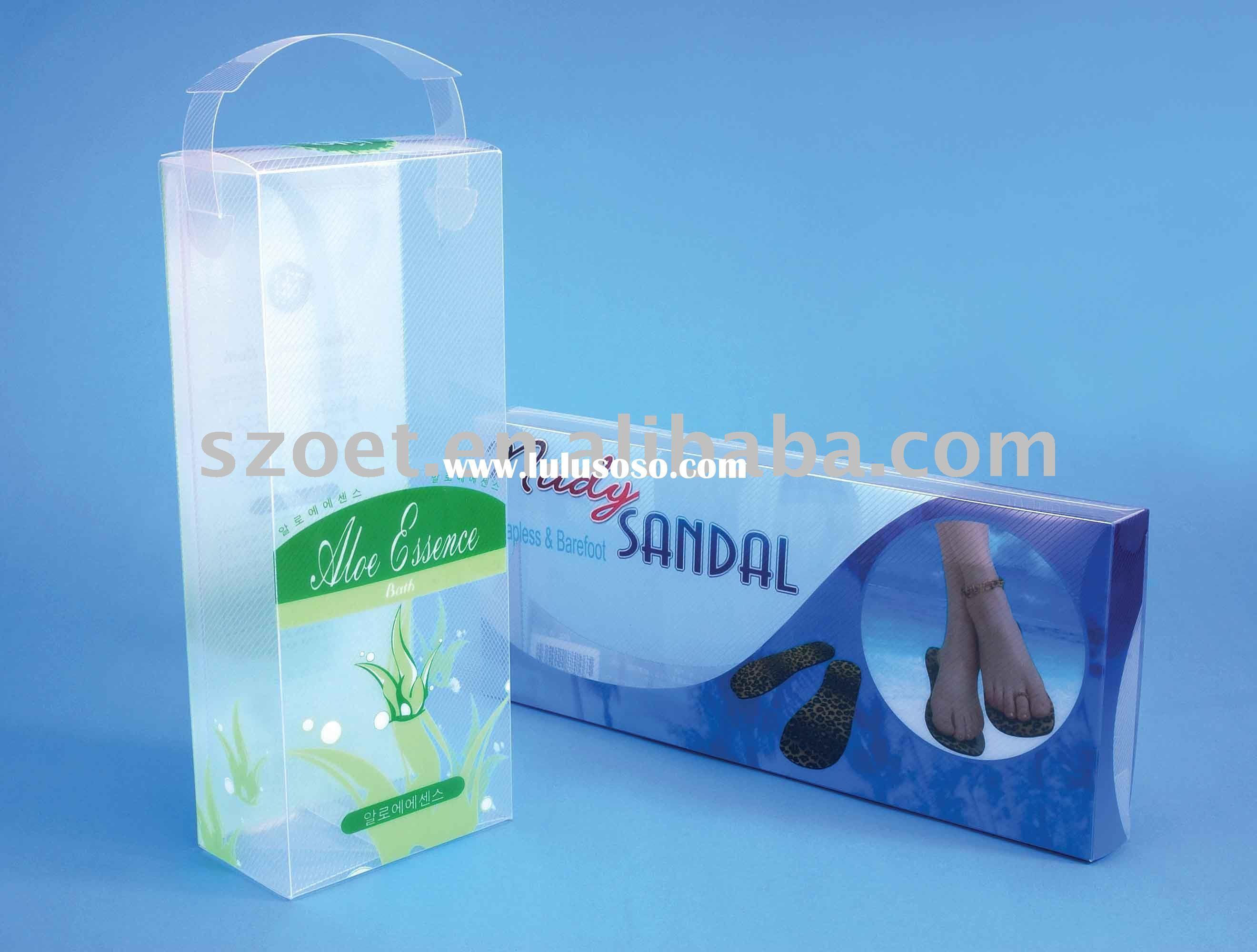 Clear trasparent PVC sock packaging box with OEM order are welcome
