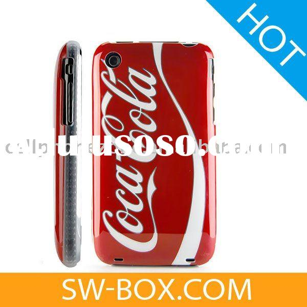 CocaCola Hard Case Cover With Transparent Side Design for Apple iPhone 3GS iPhone 3G (Red)