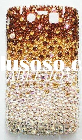 Colorful diamond hard mobile phone case for bold 9700/diamond crystal case for blackberry bold 9700