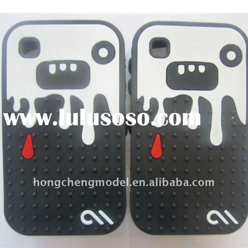 Colourful monster silicone mobile phone accessories for blackberry 8520