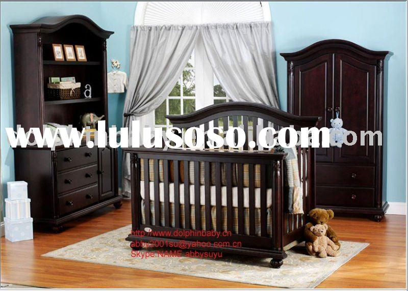 Convertible wooden baby Crib,Convertibel Crib, 4-in-1 cribs, baby cot bed