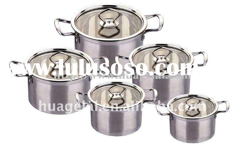 Cook N Home Stainless 10-Piece Durable Cookware Set/Sauce Pots Set