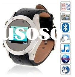 Cool Leather Wrist Watch Phone dual Sim dual standby