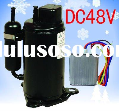 DC Air conditioner compressor for solar wind power solution heat pump