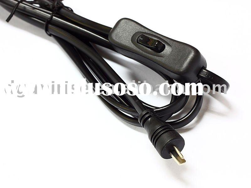 DC power cord with on/off switch