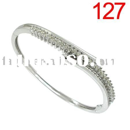 DIAMOND BRACELET 925 sterling silver/9k/10k/14k/18k yellow/white/pink gold bracelet