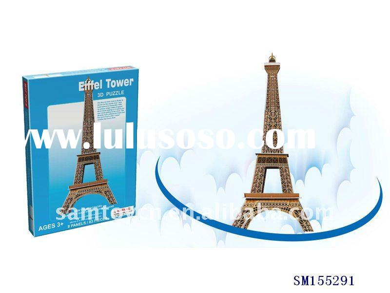 DIY 3D puzzle France building puzzle eiffel tower puzzle toys