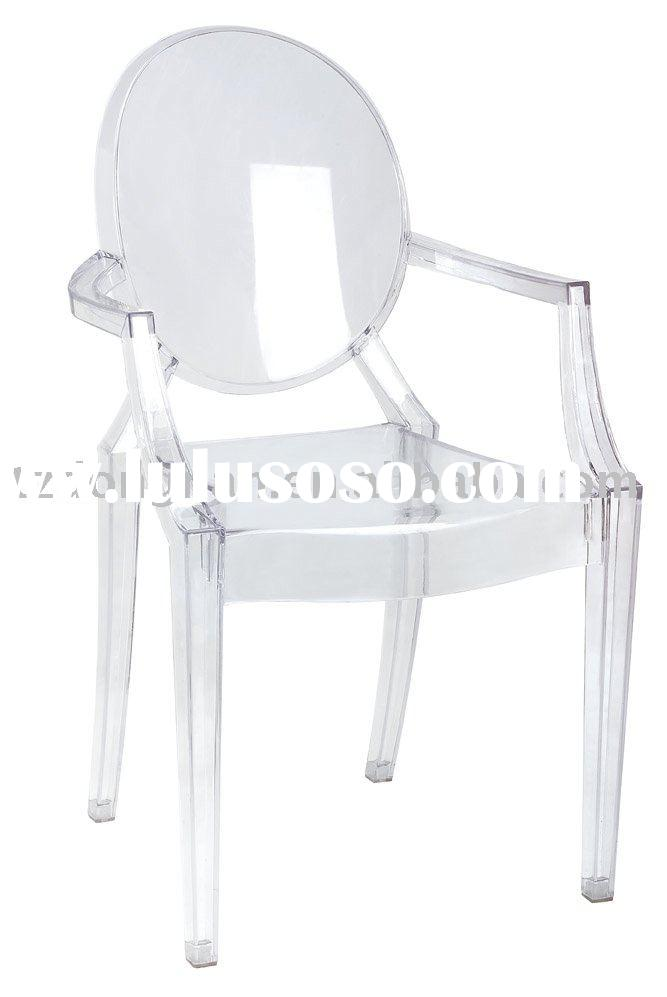 DN-124-A-B Small Louis Ghost,Plastic chair,leisure dining room chair