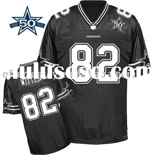 Dallas Cowboys 50TH Anniversary Jerseys #82 Jason Witten black jersey wholesale mixed order Size48-5