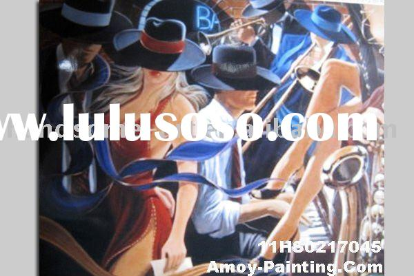 Decorative Abstract Dancers Art Painting