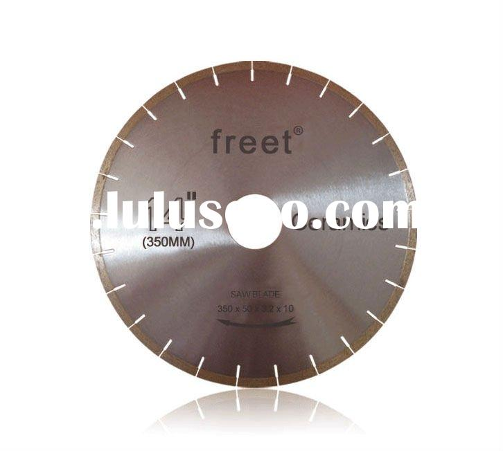 Diamond cutting saw for marble