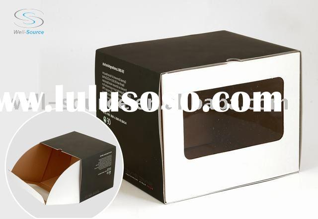 Display paper box with pvc window