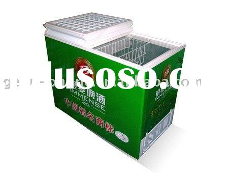 Double folding door chest freezer / refrigerator 280L