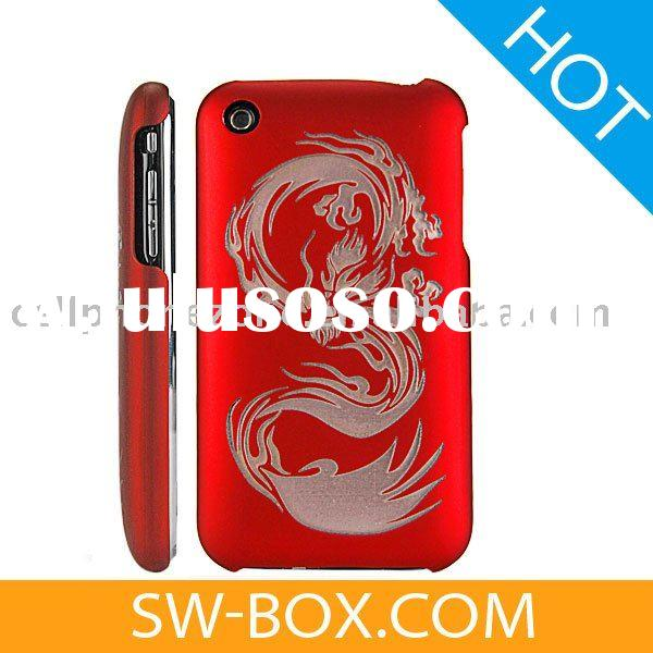 Dragon Design Hard Plastic Case Cover for Apple iPhone 3GS iPhone 3G (Red) /plastic case for iphone