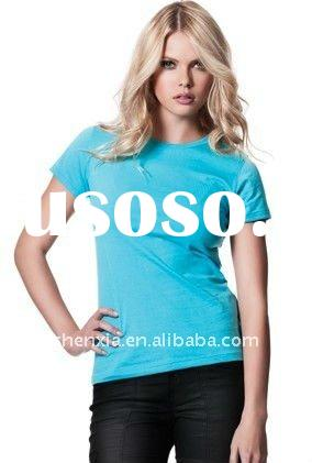 Eco friendly 70%bamboo 30%cotton 180gsm antimicrobial and deodorant female t shirt