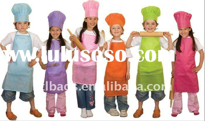 Eco-friendly Disposable Kid's Aprons And Chef Hats