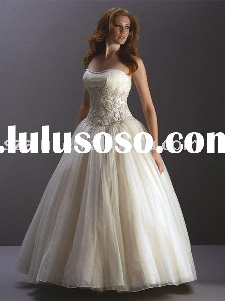 Embroidered Ball Gown Tulle AN-WD-2809b Wedding Dress/Bridal Gown