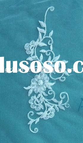 Embroidery lace flower for wedding dress /home textile