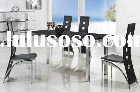 Extendable Square Glass Top Dining Table CD353