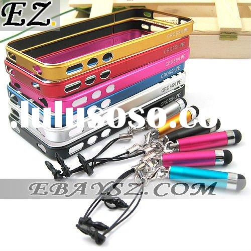 Fashion MC-1 Cross Line Metal Case Metal Bumper Aluminum Element for iPhone 4 With Touch Pen &IP