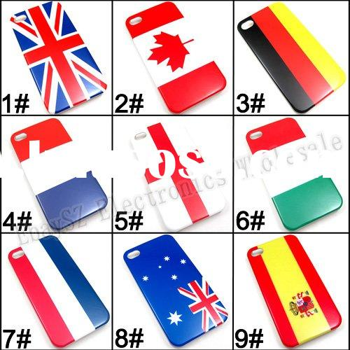 Fashion National Flag Hard Back Cover Case For Apple iPhone 4 4G,IP-217