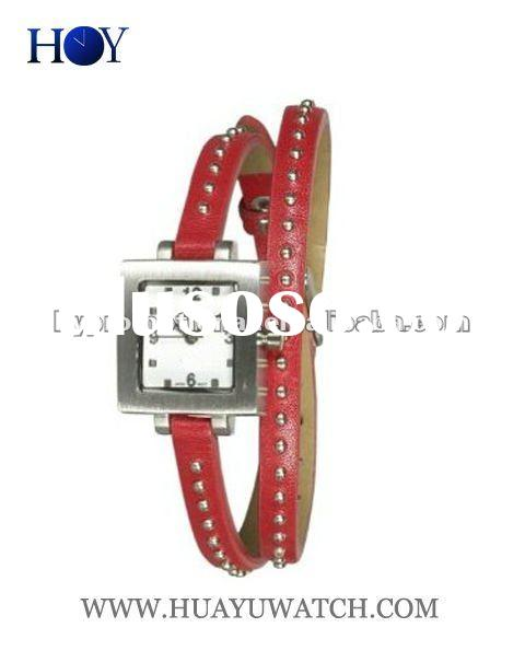 Fashion leather long strap watch with leather band HY-LW41