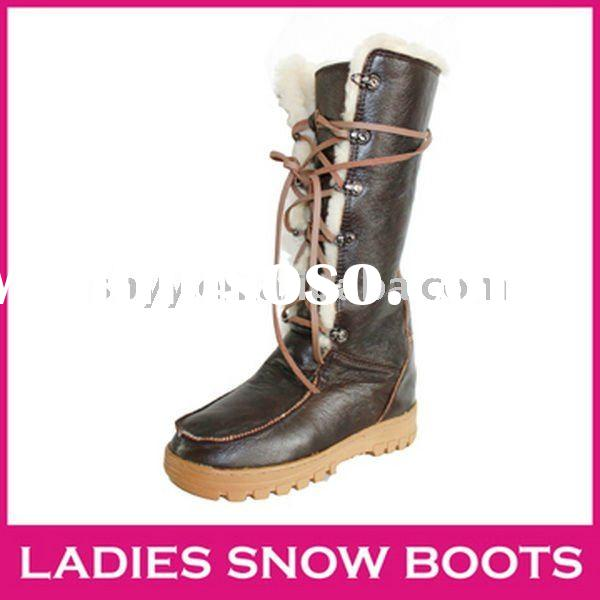 Fashion snow boot knee-high PU women leather winter boots