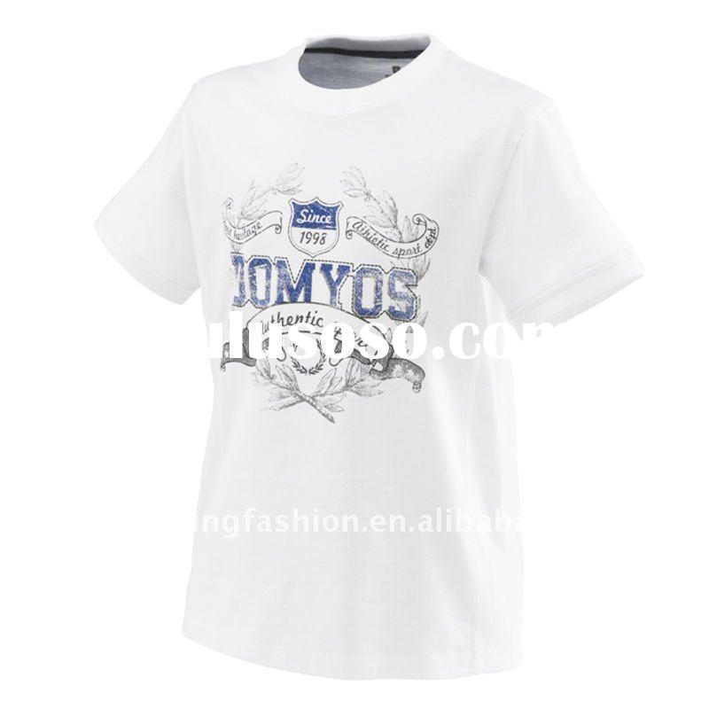 Fashional customized white printed short sleeve crew neck cheap sport t shirt for men