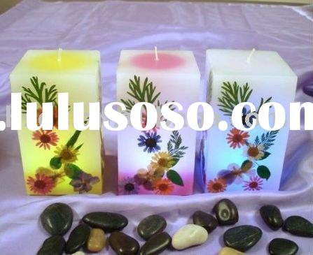 Flameless Rainbow LED wax candle remote controlled