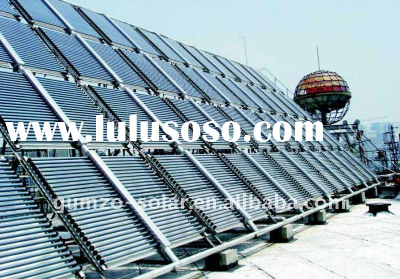 Flat plate solar hot water heater project