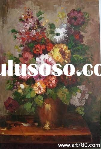 Flower canvas art,impression oil painting,canvas art oil painting