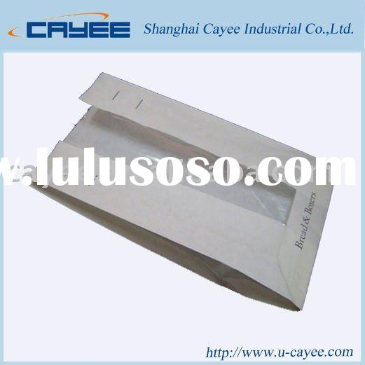 Food packaging bag with window