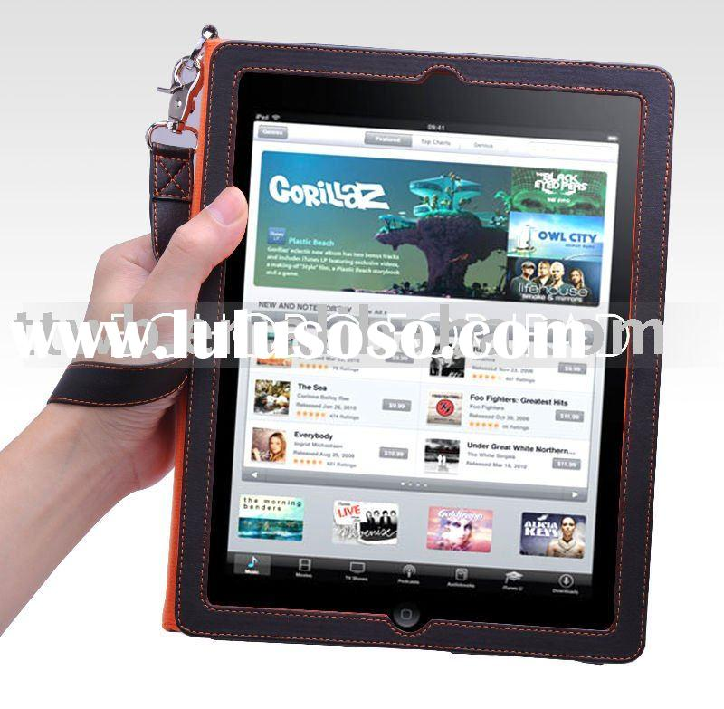 For IPAD leather case with lanyards, For ipad leather case with stand