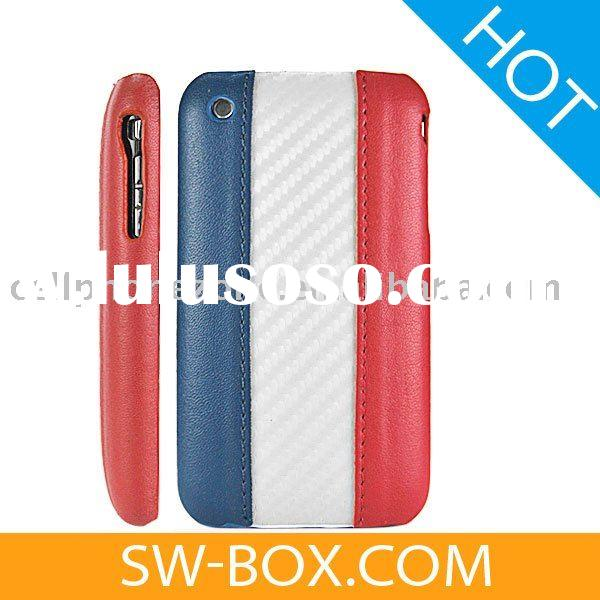 France Flag Leather Hard Case Cover for Apple iPhone 3GS iPhone 3G/cell phone case for iphone 3g/3gs