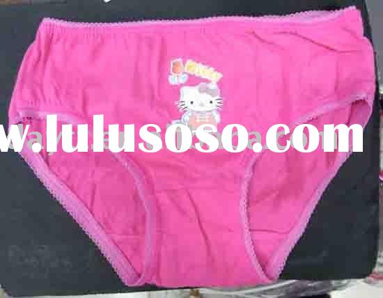 Free shipping!! Wholesale 12pcs/set 100% cotton Hello kitty underwear for kids children pants D0525F