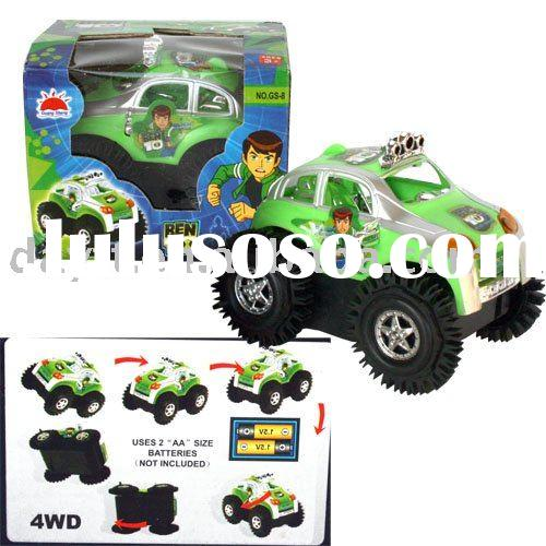 Free shipping!! Wholesale Ben 10 Super Power Alien Force funny battery toy car D0417A