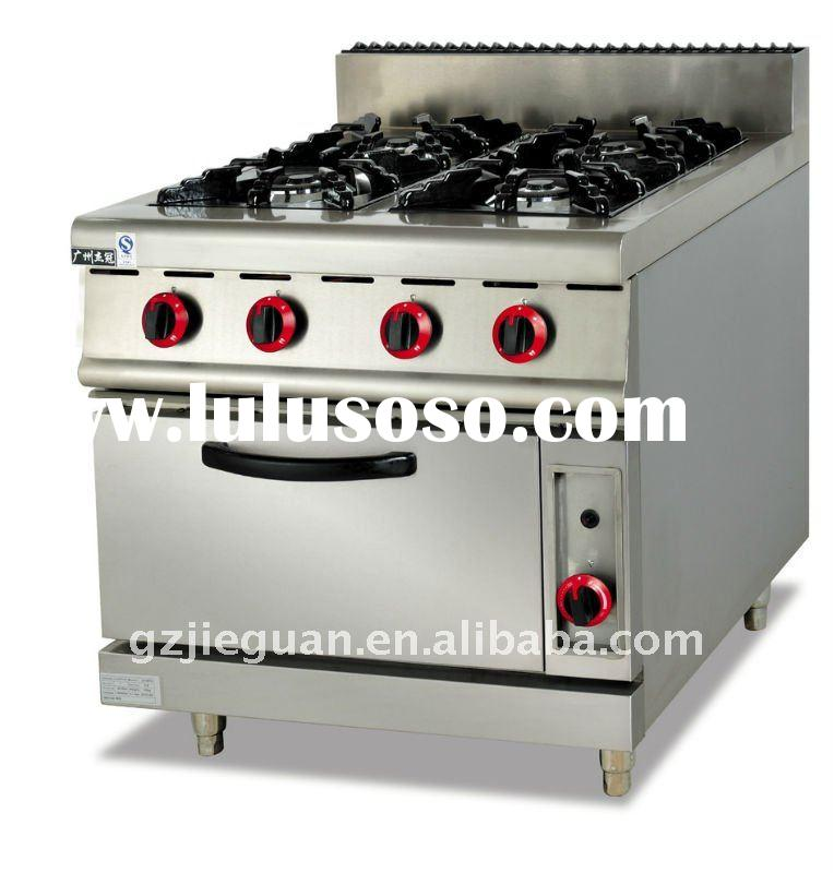 Free standing Stainless Steel Cooking Gas Range with Oven GH-787A