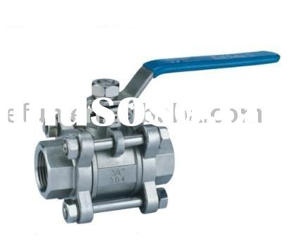 Full Bore Three-Piece Ball Valve (stainless steel ball valve,welded ball valve)