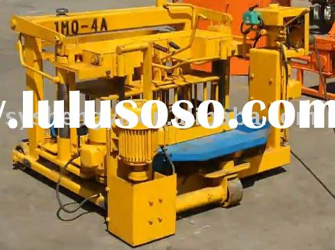 Full automatic concrete hydraulic mobile block machine(QTJ40-3)hollow block making machine&soild