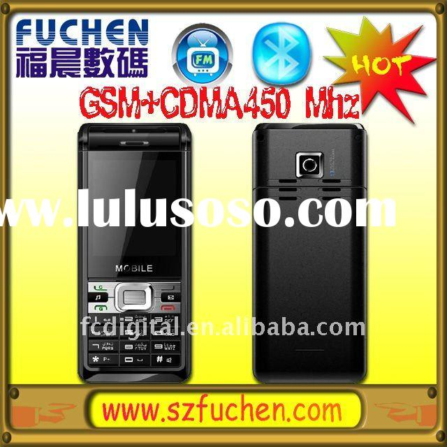 GSM+CDMA 450MHz mobile phone with G-sensor, Java, Christmas gift dual mode mobile phone