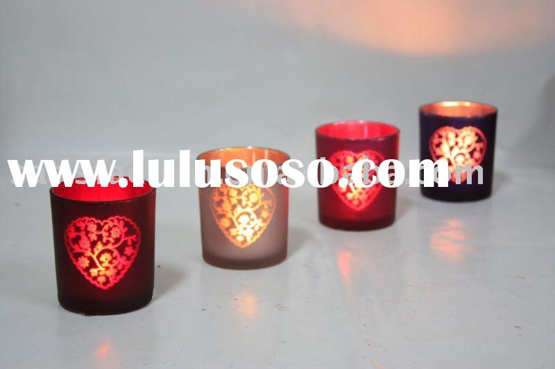 Glass candle holder for home decoration