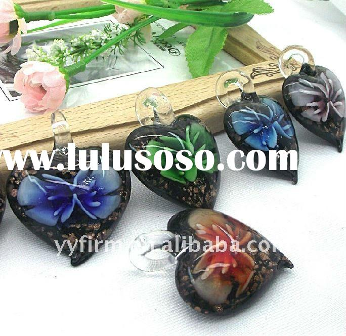 Glass jewelry heart shape beads!!! Wholesales prices!! Lampwork murano glass pendents!! !!
