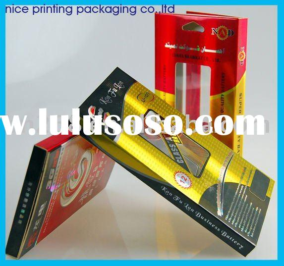 Gold and silver stamping paper packaging box